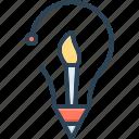 brush, concept, creative idea, enterprising, inventive, prolific, visionary
