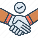 agreement, bargain, cooperation, deal, handshake, pledge, promise icon
