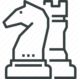 advantage, business, chess, figures, game, strategy, tactic icon