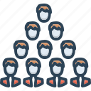 building, colleagues, group, team, team building icon