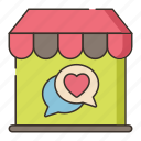 dating, market, valentine