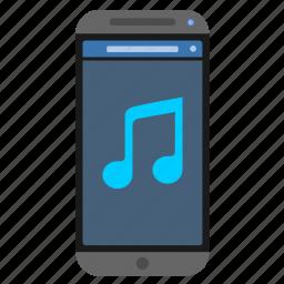 device, mobile, music, phone, smartphone icon