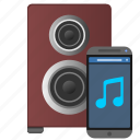 acoustic, control, device, mobile, music, phone, sound icon