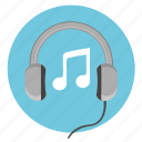 device, head, listen, melody, music, speakers icon