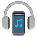 control, device, head, mobile, music, sound, speakers icon