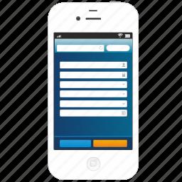 adaptive, iphone, page, responsive, smartphone icon