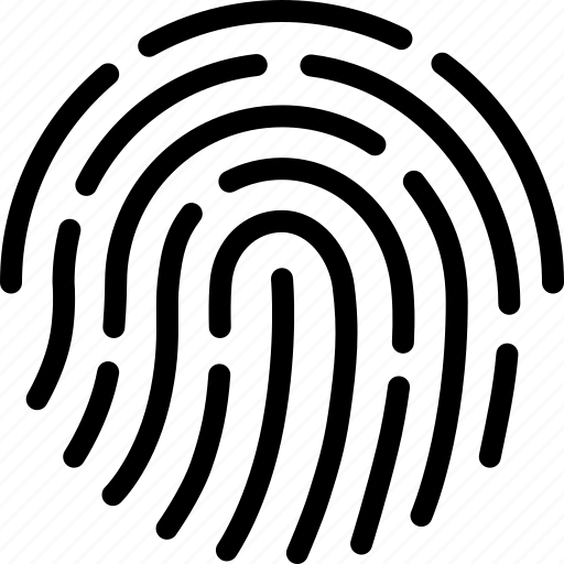 finger, fingerprint, id, print, scan, security, touch icon