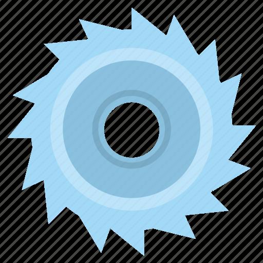 disc, instrument, metal, saw, work icon