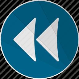 arrow, back, back arrow, backward, modern, modern social free icon