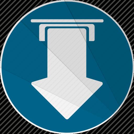 arrow, bottom arrow, down, download, load, modern, modern social free icon