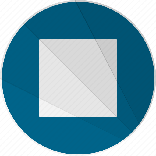 modern, modern social free, pause, rectangle, stop icon