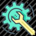 cogwheel, install, overhaul, repair, software, wrench icon