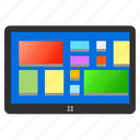 android, tablet, window icon