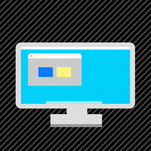 imac, monitor, pc icon