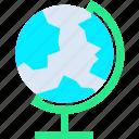 earth, globe, map, planet, world icon