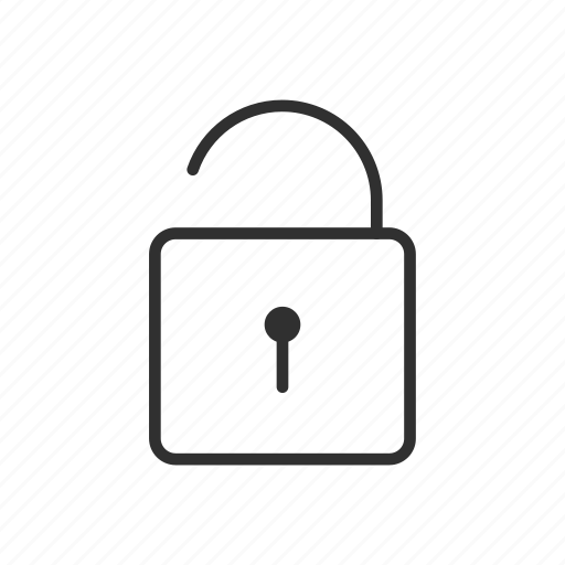 Lock, unsafe, padlock, unlock, security, public, not locked icon