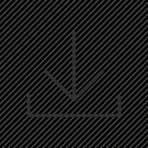 arrow down, download, file, information, send, transfer, transmit icon
