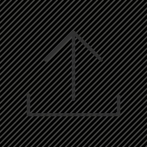 arrow, file, information, send, transfer, transmit, upload icon