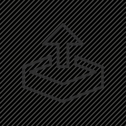 arrow, dropbox, file, send, transfer, transmit, upload icon