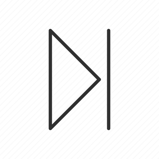 arrow, forward, media button, next, play, skip, skip forward icon
