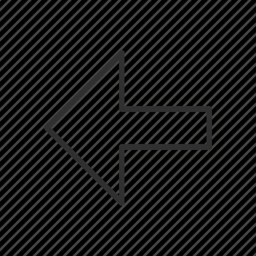 arrow, arrow left, direction, previous, right symbol, skip, this way icon