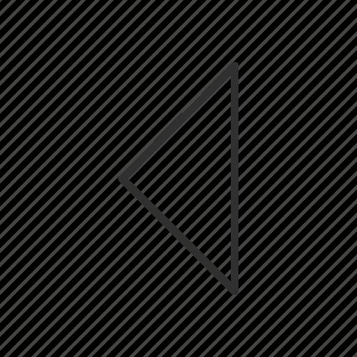 arrow, arrow left, direction, east, left, left symbol, previous icon