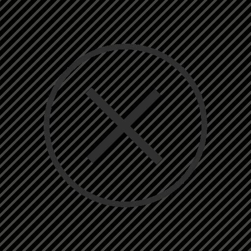 circle and divide, close, delete, erase, multiplication, multiplication sign, multiply icon
