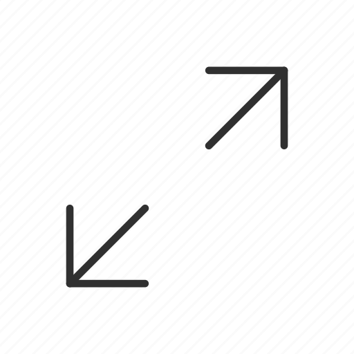 arrows, enlarge, expand, increase, maximize, stretch, zoom out icon
