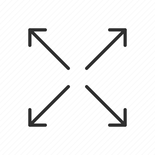 arrows, enlarge, expand, increase, maximize, stretch, zoom in icon