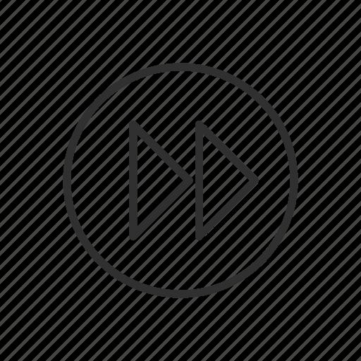 fast forward, fast forward symbol, forward, media, media button, next, skip icon