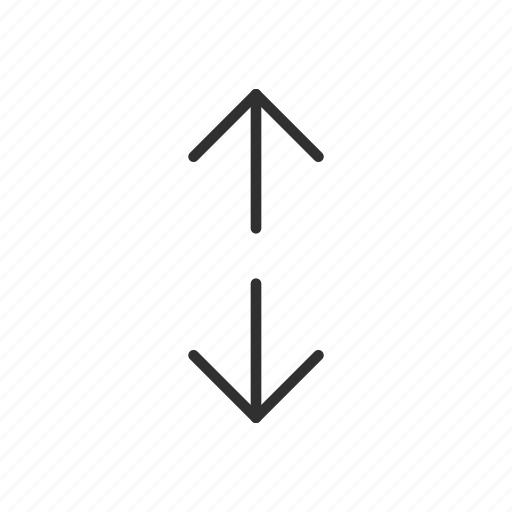 arrow, arrow up and down, arrows, down, move up and down, north and south, up icon
