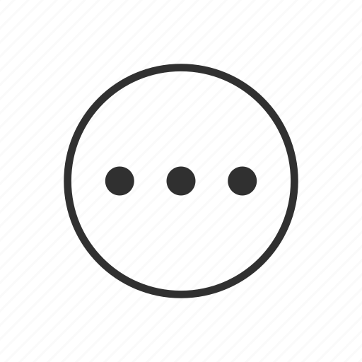 circle, details, more, more details, more options, options, pending icon