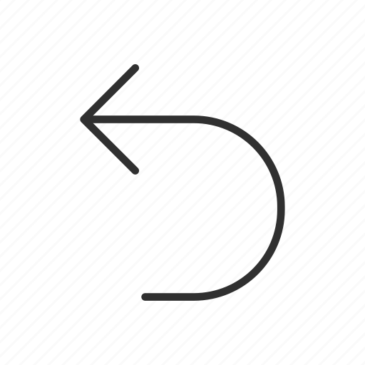 back, backward, previous, restore, return, rotate left, undo icon