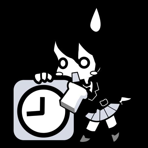 alarm, cartoon, clock, japanese, time, timer, watch icon