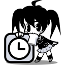 alarm, call me, clock, japanese, time, timer, watch icon