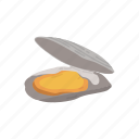 clam, mollusc, mollusk, mussel, pearl mussel, seafood, shell icon