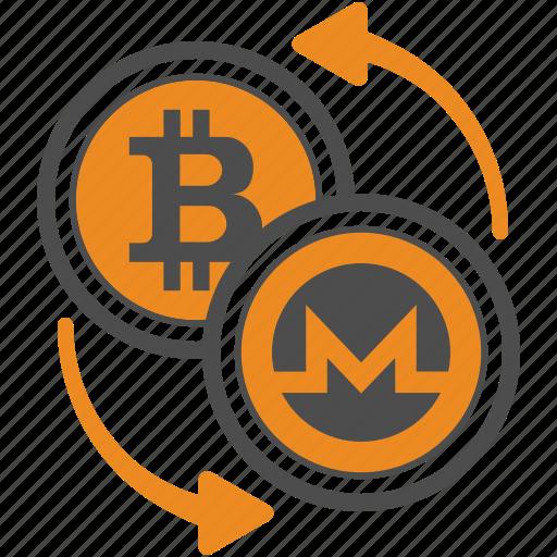 bitcoin, coin, crypto, cryptocurrency, monero, trasnfer icon