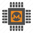 blockchain, crypto, cryptocurrency, mining, monero icon