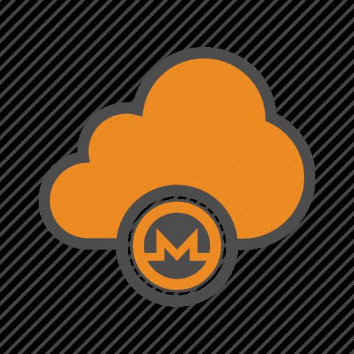 blockchain, cloud, crypto, cryptocurrency, monero, web icon
