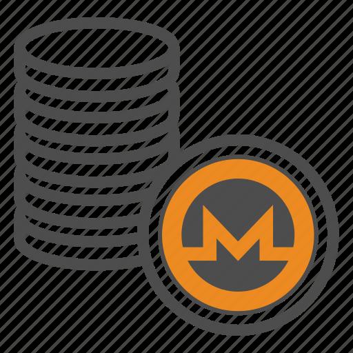 coin, coins, crypto, cryptocurrency, monero icon