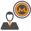 avatar, coin, coins, crypto, cryptocurrency, monero, user icon
