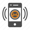 app, coin, crypto, cryptocurrency, mobile, monero icon