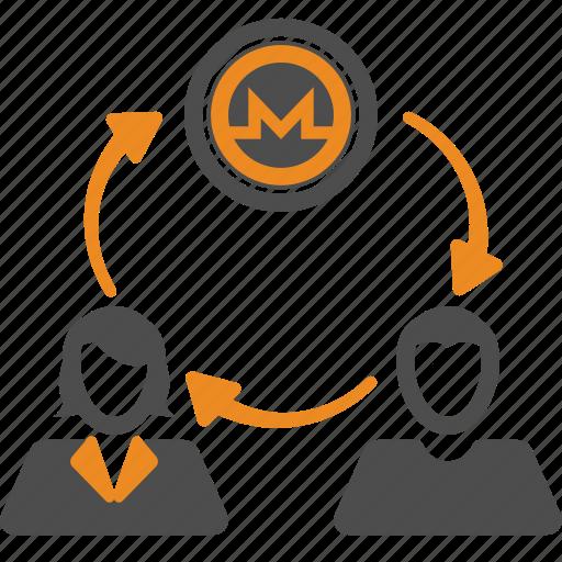 coin, crypto, cryptocurrency, monero, money, transfer icon