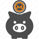 backup, coin, crypto, cryptocurrency, monero, save icon