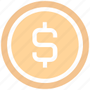 bit coin, business, coin, currency, dollar, finance, money, sign icon