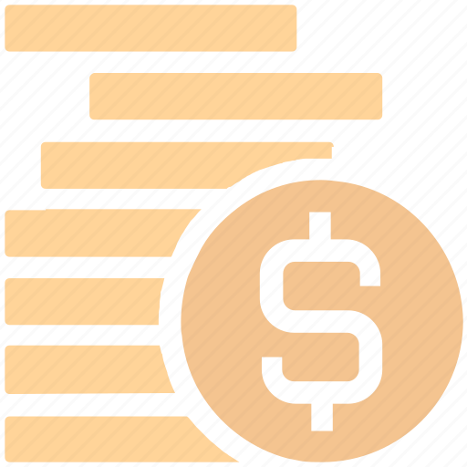 cash, cent, coins, currency, dollar, dollar coins, finance, money, payment icon