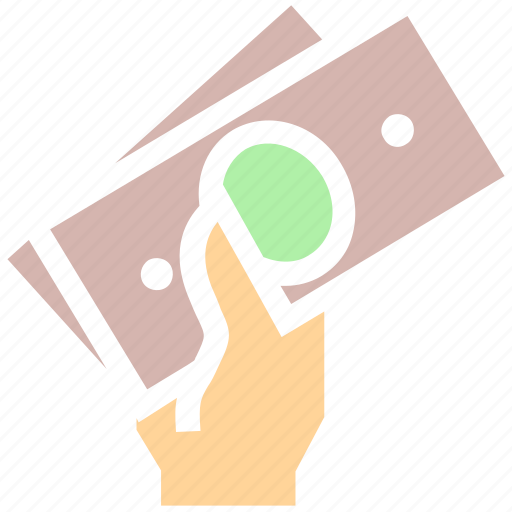 cash payment, currency, dollar, funding, hand, income, money, salary icon
