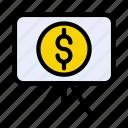 board, currency, dollar, money, presentation