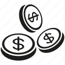 coin, currency, dollar, money icon
