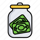cash, dollar, euro, finance, money, money box, moneybox icon